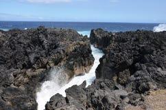 """Le Gouffre Abyss nella L """"‰ Tang-Salé, Reunion Island di à immagine stock libera da diritti"""