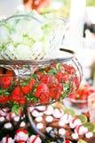 Le gourmet porte des fruits des andDesserts Image libre de droits