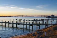 Le Gouverneur Thomas Johnson Bridge photographie stock libre de droits