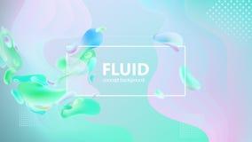 Le gradient liquide forme la composition Conception liquide de fond de couleur Affiches de conception Illustration de vecteur illustration stock