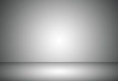 Le gradient vide gris abstrait de studio de pièce utilisé pour le fond et exposent votre produit Photographie stock libre de droits