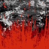 Le graffiti coloré souille sur une texture noire de grunge de fond Photo libre de droits