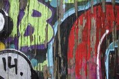 Le graffiti a couvert le mur Images libres de droits