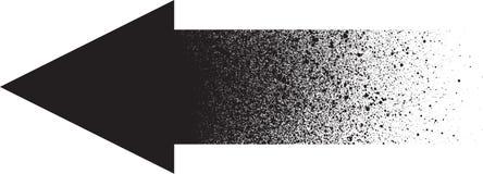 Le graffiti a pulvérisé la flèche de gradient dans le noir au-dessus du blanc Photos libres de droits