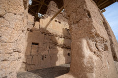 Le grand adobe de maison ruine des détails de plan rapproché de structure Image stock