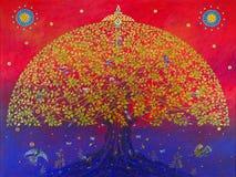 Le grand arbre de bodhi illustration de vecteur