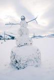 Le grand bonhomme de neige Photographie stock libre de droits