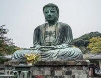 Le grand Bouddha à Kamakura, Japon image libre de droits