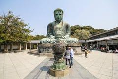Le grand Bouddha, Daibutsu, à Kamakura, le Japon Images stock
