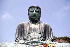Le grand Bouddha de Kamamura Image stock