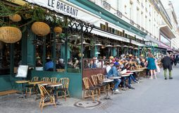 Le Grand Cafe Brebant is the legendary and famous brasserie located on Grands Boulevards in Paris, France. Paris, France-April 07 ,2018 : Le Grand Cafe Brebant Stock Photos
