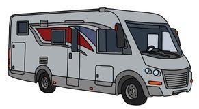 Le grand camping-car argenté illustration stock