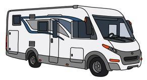 Le grand camping-car blanc illustration de vecteur