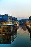 Le grand canal de Naviglio à Milan, Italie Photo libre de droits