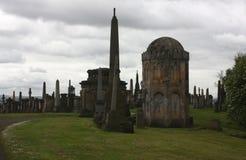 Le grand cimetière à Glasgow Photos stock