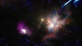 Le grand coup, la naissance de l'univers Création de galaxie barre La naissance de l'univers dans l'espace, un grand coup photos stock