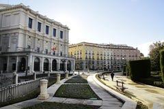 Le grand dos d'Oriente à Madrid Images stock