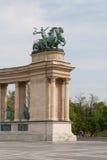 Le grand dos de héros à Budapest. Image stock