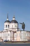Le grand dos de Lénine. Tomsk. La Sibérie. La Russie. photo libre de droits