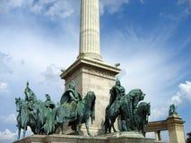 Le grand dos des héros - Budapest, Hongrie photo libre de droits