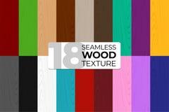Le grand ensemble de couleur et le monochrome dirigent les modèles sans couture Texture en bois Illustration de vecteur pour des  illustration stock