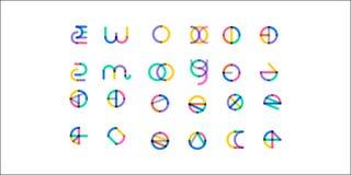 Le grand ensemble de symbole multicolore géométrique minimal forme Icônes et logotypes à la mode Les affaires signent des symbole Image libre de droits