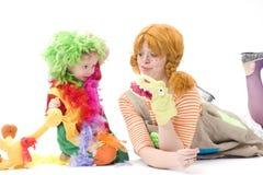 Le grand et petit clown jouent VI Photographie stock libre de droits