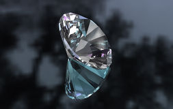 Le grand euro a coupé autour du diamant sur la surface lustrée Image stock