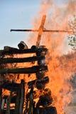Le grand feu Photos stock