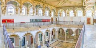 Le grand hall dans le musée de Bardo Photo libre de droits