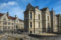 Le grand hall du château de Winchester au Hampshire, Angleterre Photographie stock libre de droits