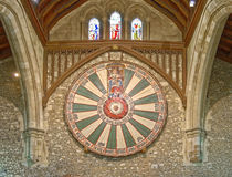 Le grand hall du château de Winchester au Hampshire, Angleterre Photographie stock