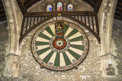 Le grand hall du château de Winchester au Hampshire, Angleterre Photos libres de droits