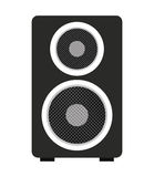 le grand haut-parleur a isolé la conception d'icône photo libre de droits