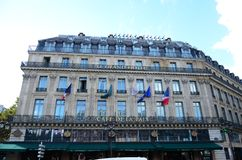 Le Grand Hotel Parigi fotografia stock libera da diritti
