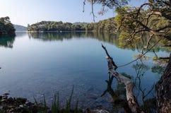 Le grand lac pendant le matin image libre de droits