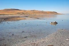 Le Grand Lac Salé en Utah images libres de droits