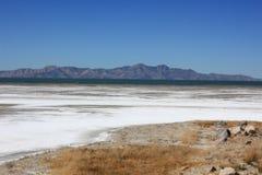 Le Grand Lac Salé en Utah Image libre de droits