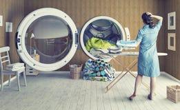 Le grand lavage illustration de vecteur