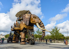 Le grand éléphant de Nantes Photos stock