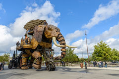 Le grand éléphant de Nantes Photographie stock