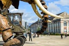 Le grand éléphant de Nantes Image libre de droits