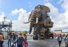 Le grand éléphant de Nantes Images libres de droits
