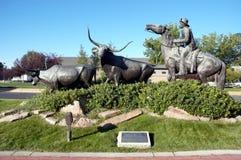 Le grand monument centennal d'entraînement de bétail du Montana Photos libres de droits