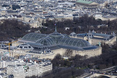 Le Grand Palais in Paris from the Tour Eiffel Stock Photography