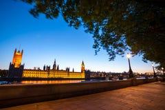 le grand parlement de nuit de maisons de ben Photographie stock libre de droits