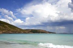le grand pelerynę na plaży Zdjęcie Royalty Free