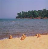 Le grand point de baie donnent sur chez le lac Supérieur Photos libres de droits