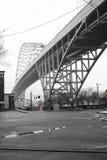 Le grand pont célèbre à deux étages Fremont de voûte à travers le Willam photos libres de droits