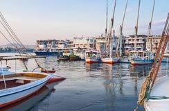 Le grand port Image stock